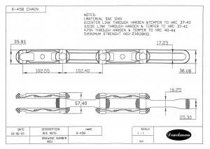 Corrente X458 para Transportador